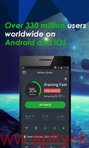 دانلود نرمافزار کاهش مصرف باتری و افزایش عمر باطری Battery Doctor v4.19 اندروید