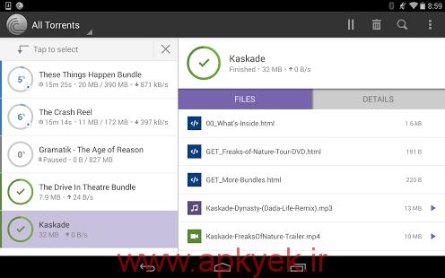 دانلود نرمافزار فایل های تورنت BitTorrent Pro v3.2 اندروید