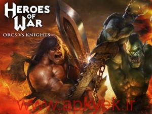 دانلود بازی قهرمان جنگ اورک ها و شوالیه ها  Heroes of War: Orcs vs Knights 1.1.5 اندروید