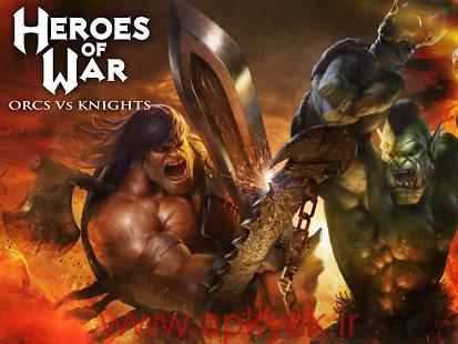 دانلود بازی قهرمان جنگ اورک ها و شوالیه ها  Heroes of War: Orcs vs Knights 1.2.3 اندروید