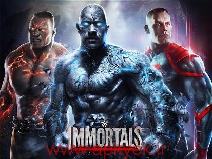 دانلود بازی گرافیکی کشتی کج WWE Immortals 1.4.0 اندروید مود شده پول بی نهایت