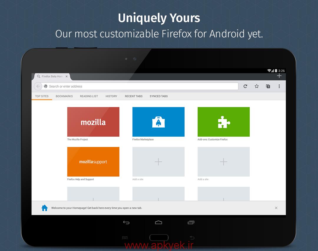 دانلود مرورگر فایرفاکس Firefox Browser 42.0 اندروید نسخه کامل