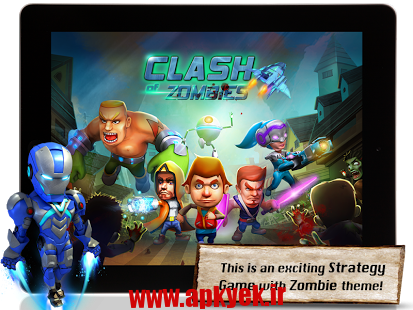 دانلود بازی درگیری زامبی Apoc Wars: Zombies Clash 2.0 اندروید