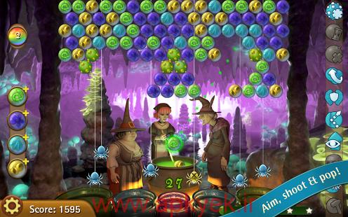 دانلود بازی حباب های جادوگر Bubble Witch Saga 3.1.27 اندروید مود شده