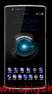 دانلود تم آبی هیدرا CM12 Theme Blue Hydra v1.0.0 b6 اندروید