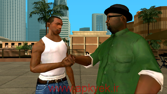 دانلود بازی جی تی ای پنج اتومبیل دزدی بزرگ Grand Theft Auto: San Andreas v1.08 اندروید