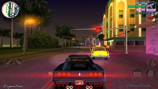 دانلود بازی جی تی ای دزدیدن ماشین Grand Theft Auto: Vice City v1.07 اندروید مود شده و پول بی نهایت