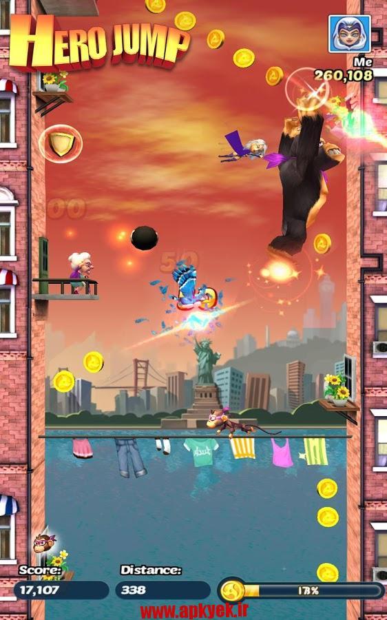 دانلود بازی قهرمان پرش Hero Jump v1.0.3 اندروید مود شده و پول بی نهایت