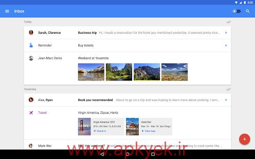 دانلود نرمافزار مدیریت جیمیل Inbox by Gmail v1.9 اندروید