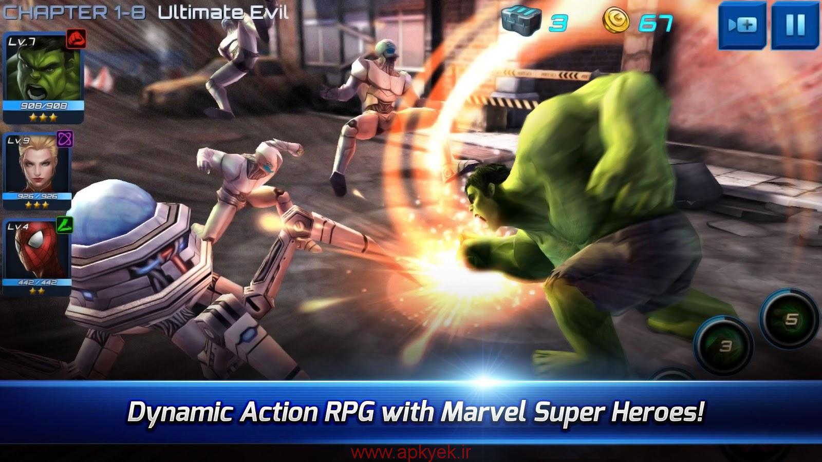 دانلود بازی جنگ مدرن MARVEL Future Fight 1.7.0 اندروید