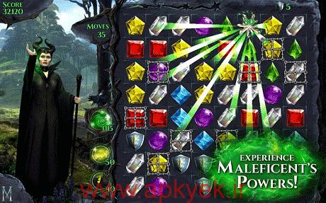 دانلود بازی پازلی Maleficent Free Fall v1.9.0 اندروید مود شده