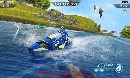 دانلود بازی قایق سواری Powerboat Racing 3D 1.3 اندروید