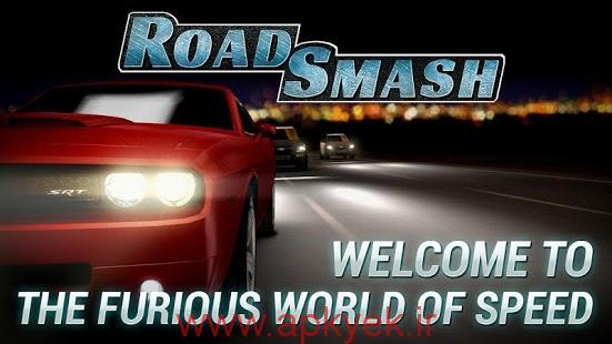 دانلود بازی مسابقات ماشین سواری دیوانه کننده Road Smash: Crazy Racing! 1.8.40 اندروید