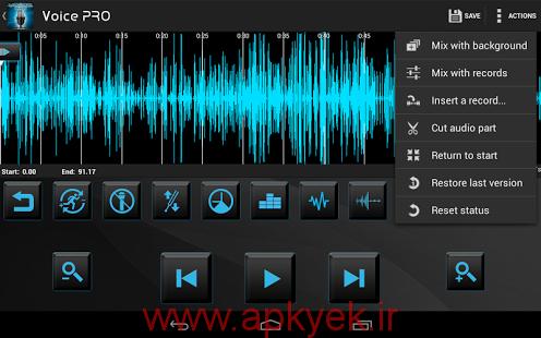 دانلود نرمافزار ضبط صدای حرفه ای Voice PRO 3.3.9 اندروید مود و پچ شده