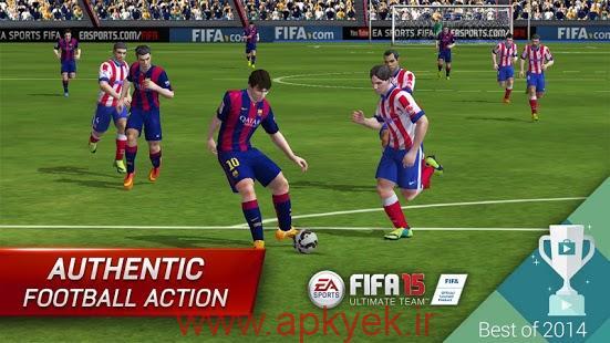 دانلود بازی فوتبال فیفا تیم بی نهایت FIFA 15 Ultimate Team 1.6.0 اندروید