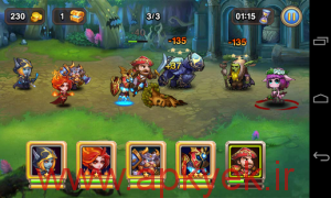 دانلود بازی مبارزه قهرمانان Heroes Clash v1.0.0 اندروید همراه دیتا