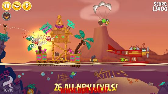 دانلود بازی فصل پرندگان خشمگین Angry Birds Seasons 5.2.0 اندروید مود شده