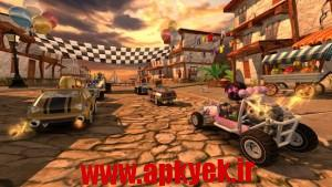 دانلود بازی ساحل خطرناک Beach Buggy Racing v1.2.5 اندروید مود شده