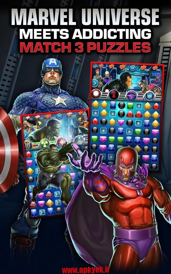 دانلود بازی پازلی Marvel Puzzle Quest v73.276836 اندروید