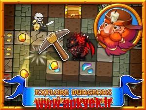 دانلود بازی معدن طلا Mine Quest – Craft and Fight 1.1 اندروید انلاک شده