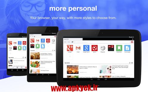 دانلود مرورگر اپرا مینی Opera Mini – Fast web browser 11.0.1912.95711 اندروید