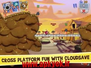 دانلود بازی کارت Worms 3 2.04 اندروید مود شده