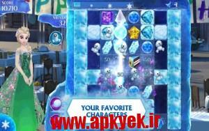 دانلود بازی پازل یخی Frozen Free Fall v2.8 اندروید مود شده