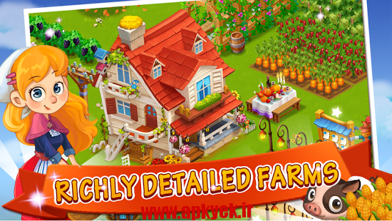 دانلود بازی مزرعه اب نبات Happy Farm Candy Day 2.7.5 اندروید
