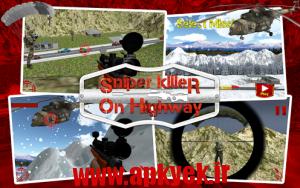 دانلود بازی تیراندازی در بزرگراه Sniper Killer on Highway v1.0 اندروید