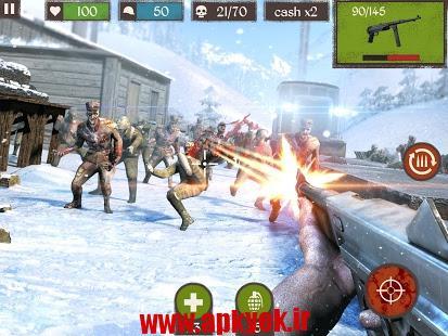 دانلود بازی تیراندازی زامبی مرده Zombie Call: Dead Shooter FPS v1.2 اندروید مود شده