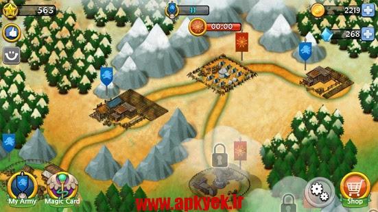 دانلود بازی برخورد با تاج و تخت clash of throne v2.0.0 اندروید