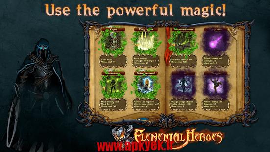 دانلود بازی قهرمانان واقعی Elemental Heroes v1.0.10082 اندروید