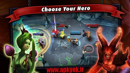 دانلود بازی اکشن قهرمان Heroes of SoulCraft – MOBA v1.0.0 اندروید