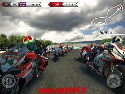 دانلود بازی مسابقه موتور سواری SBK15 Official Mobile Game 1.2.0 اندروید مود شده