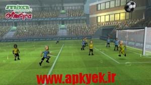 دانلود بازی فوتبال مهاجم Striker Soccer America 2015 v1.2.0 اندروید مود شده