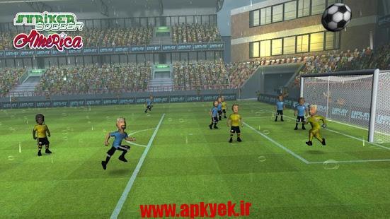 دانلود بازی فوتبال مهاجم Striker Soccer America 2015 1.2.3 اندروید مود شده