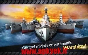 دانلود بازی کشتی جنگ WARSHIP BATTLE:3D World War II v1.0.0 اندروید