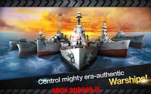 دانلود بازی کشتی جنگ WARSHIP BATTLE:3D World War II 1.1.0 اندروید