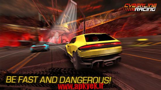 دانلود بازی مسابقه سایبر لاین Cyberline Racing v0.9.8476 اندروید