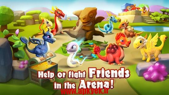 دانلود بازی افسانه اژدها Dragon Mania Legends 1.4.1a اندروید