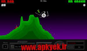 دانلود بازی تانک جنگلی Pocket Tanks v2.2.1 اندروید