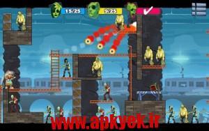 دانلود بازی زامبی احمق سه Stupid Zombies 3 v1.0 اندروید