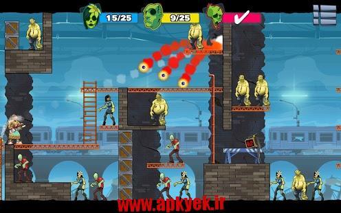 دانلود بازی زامبی احمق سه Stupid Zombies 3 1.2 اندروید
