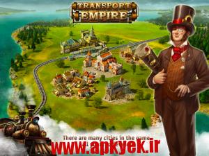دانلود بازی سرمایه دار Transport Empire: Steam Tycoon v1.11.12 اندروید مود شده