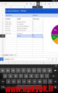 دانلود نرمافزار گوگل شیتز Google Sheets v1.4.272.12.35 اندروید