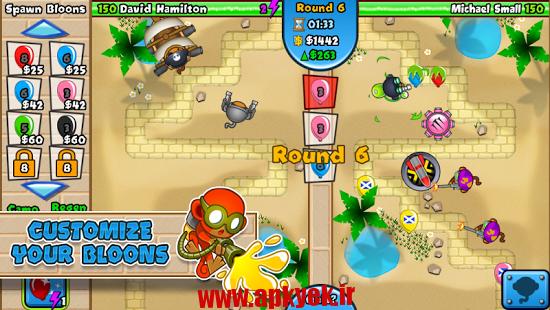 دانلود بازی جنگ تی دی Bloons TD Battles 3.2.1 اندروید مود شده