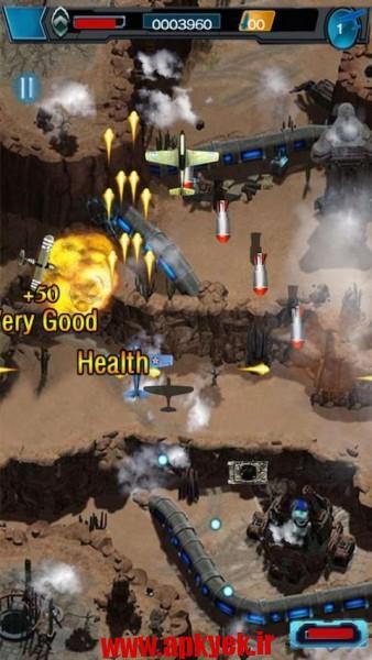 دانلود بازی جنگنده هوا ۲۰۱۵ Fighter Aircraft Warfare 1.0 اندروید مود شده