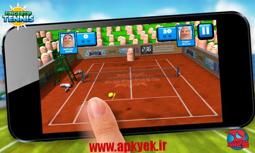 دانلود بازی تنیس با انگشت Fingertip Tennis v1.3 اندروید