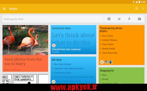 دانلود نرمافزار ویرایش متن گوگل Google Keep – notes and lists v3.1.313.00 اندروید
