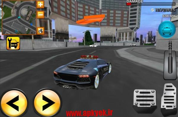 دانلود بازی پلیس دیوانه Mad Police Driver Fury 3D 1.2 اندروید مود شده